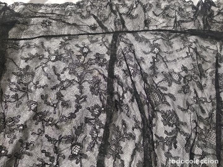 Antigüedades: Gran mantilla negra ppio XX - Foto 6 - 134868954