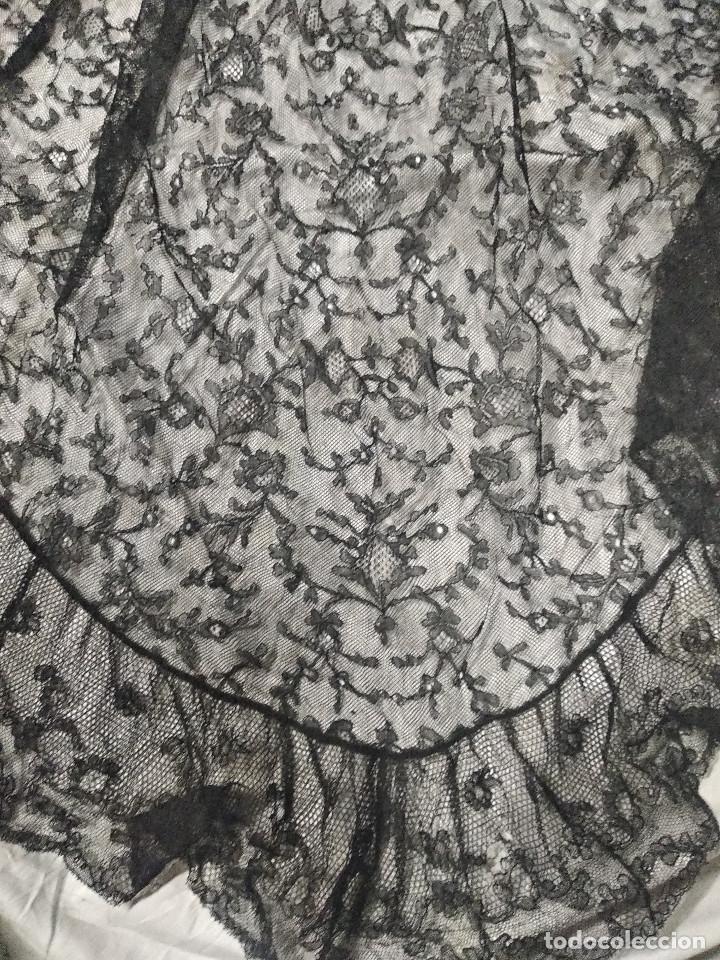 Antigüedades: Gran mantilla negra ppio XX - Foto 7 - 134868954