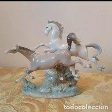 Antigüedades: CABALLOS DE PORCELANA LLADRÓ. Lote 134878378