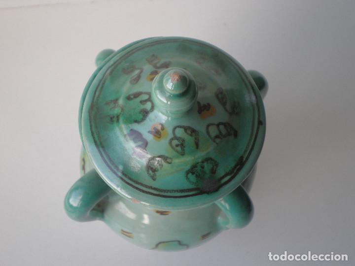 Antigüedades: TARRO 4 ASAS MIEL DEL MESON CERAMICA PUENTE DEL ARZOBISPO FIRMADA S. JOSE // toledo - Foto 3 - 134926942