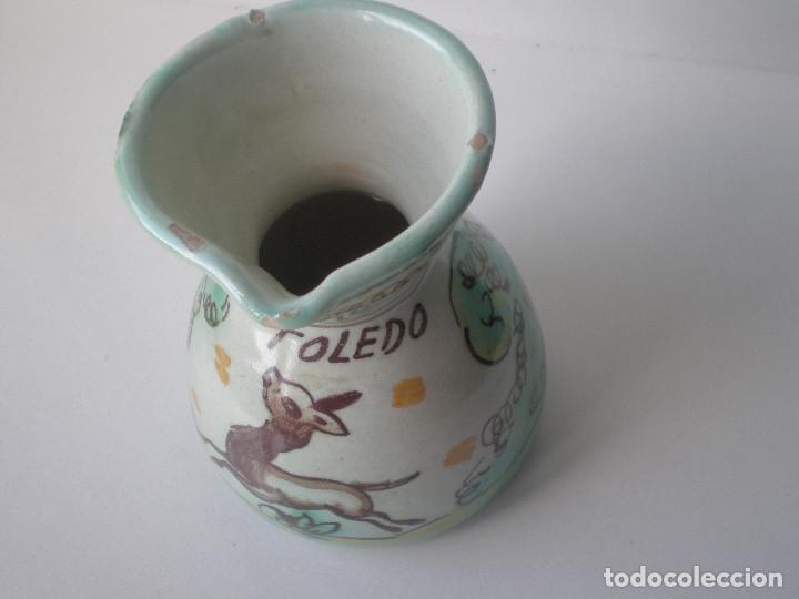 Antigüedades: PEQUEÑA JARRA CERAMICA PUENTE DEL ARZOBISPO TOLEDO - Foto 4 - 134927666