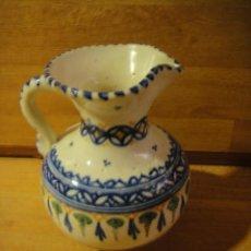 Antigüedades: JARRA DE CERAMICA FIRMADA - PUENTE DEL ARZOBISPO. Lote 134977274