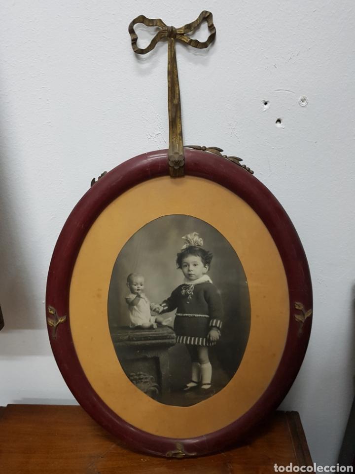 marco fotografía ovalado con aplicaciones de br - Comprar Marcos ...