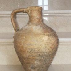 Antigüedades: INUSUAL CANTARO ANTIGUO DE ÚBEDA DE CULO PLANO. Lote 134980179