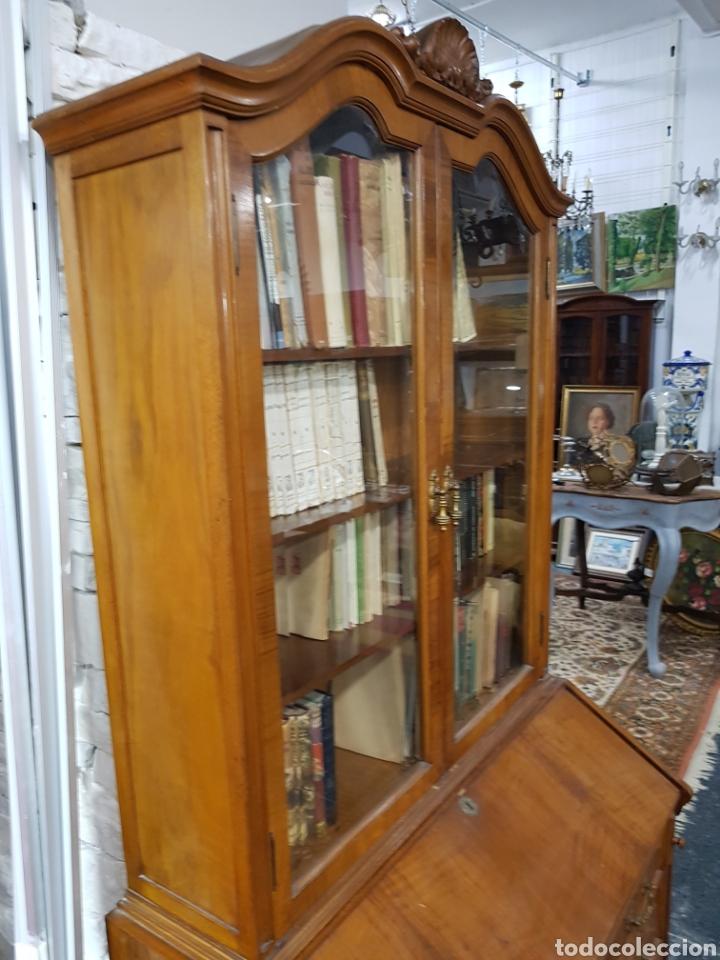 Antigüedades: Escritorio con vitrina grande - Foto 3 - 134983833