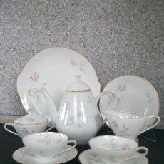 Antigüedades: JUEGO DE CAFÉ Y POSTRE, 10 SERVICIOS, HUTCHENREUTER. Lote 134985082