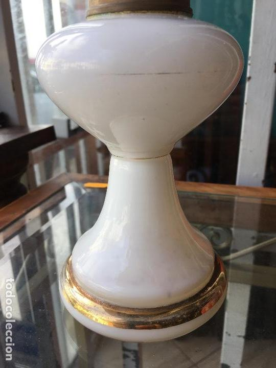 Antigüedades: Quinqué opalina kosmos brenner - Foto 2 - 135008094