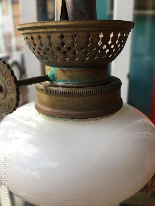 Antigüedades: Quinqué opalina kosmos brenner - Foto 7 - 135008094