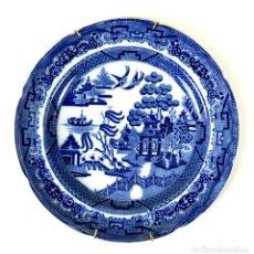 Antigüedades: PLATO DE CERÁMICA ESMALTADA. WILLOW. INGLATERRA. SIGLO XX.. Lote 135016318