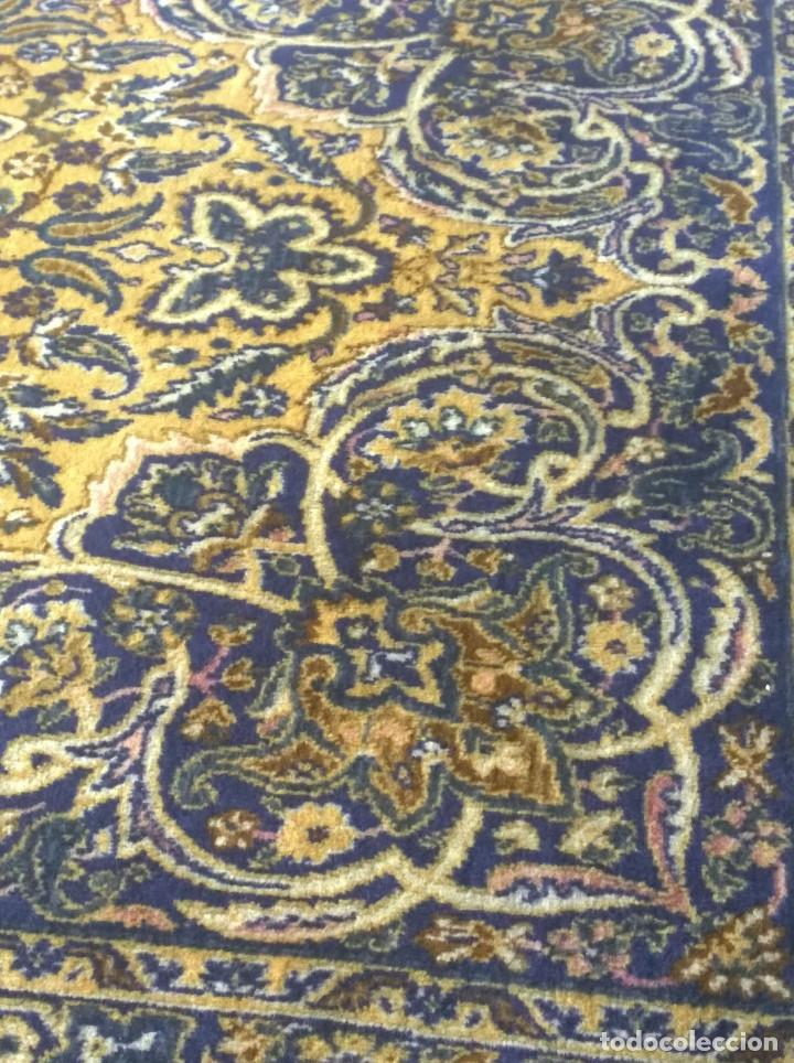 Antigüedades: Alfombra de tonos azules y ocres - Foto 2 - 135031010