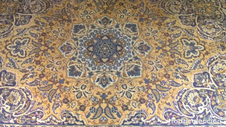 Antigüedades: Alfombra de tonos azules y ocres - Foto 3 - 135031010