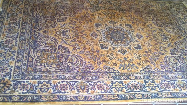 Antigüedades: Alfombra de tonos azules y ocres - Foto 4 - 135031010