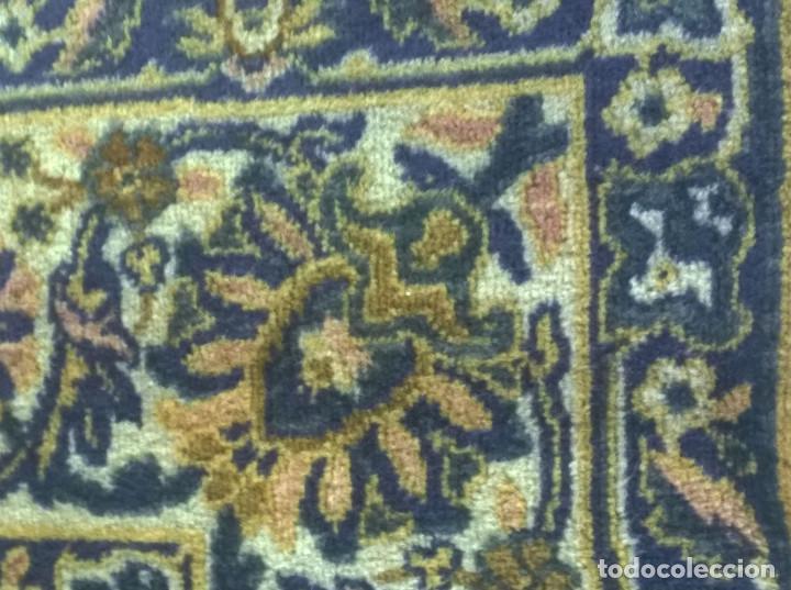Antigüedades: Alfombra de tonos azules y ocres - Foto 5 - 135031010