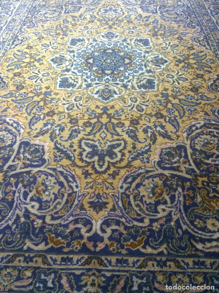 Antigüedades: Alfombra de tonos azules y ocres - Foto 6 - 135031010