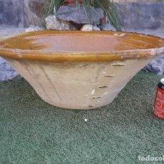 Antigüedades: LEBRILLO LAÑADO DE BARRO VITIFICADO . Lote 135048066