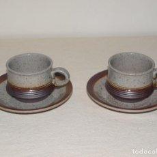Antigüedades: JUEGO DE DOS TAZAS Y DOS PLATOS DE CAFE CON LECHE. VER FOTOS Y DESCRIPCION. Lote 135055082