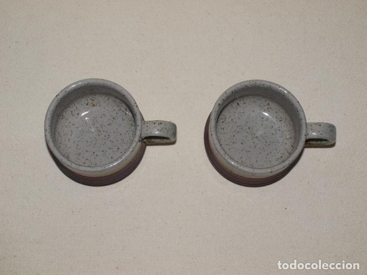 Antigüedades: JUEGO DE DOS TAZAS Y DOS PLATOS DE CAFE CON LECHE. VER FOTOS Y DESCRIPCION - Foto 6 - 135055082