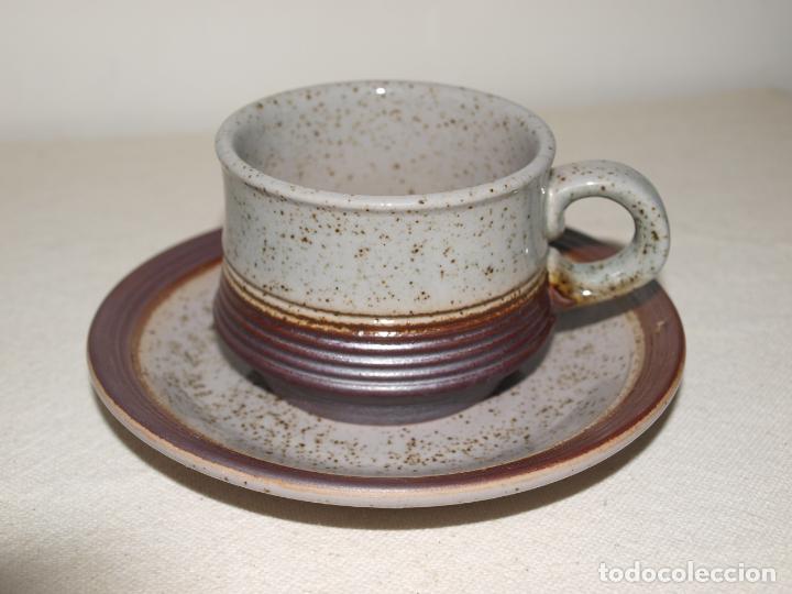 Antigüedades: JUEGO DE DOS TAZAS Y DOS PLATOS DE CAFE CON LECHE. VER FOTOS Y DESCRIPCION - Foto 10 - 135055082