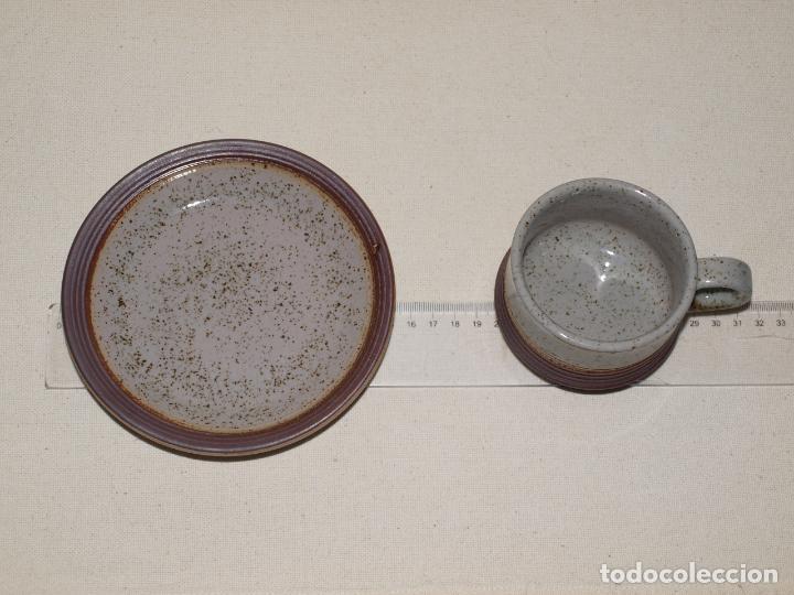 Antigüedades: JUEGO DE DOS TAZAS Y DOS PLATOS DE CAFE CON LECHE. VER FOTOS Y DESCRIPCION - Foto 11 - 135055082
