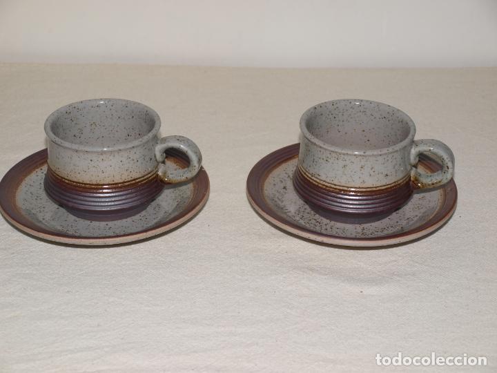 Antigüedades: JUEGO DE DOS TAZAS Y DOS PLATOS DE CAFE CON LECHE. VER FOTOS Y DESCRIPCION - Foto 12 - 135055082