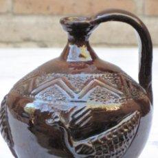 Antigüedades: CANTARILLO 1 EN CERAMICA VIDRIADA - DECORACION EN RELIEVE - EXTINTO ALFAR DE CASATEJADA ( CACERES ). Lote 135059142