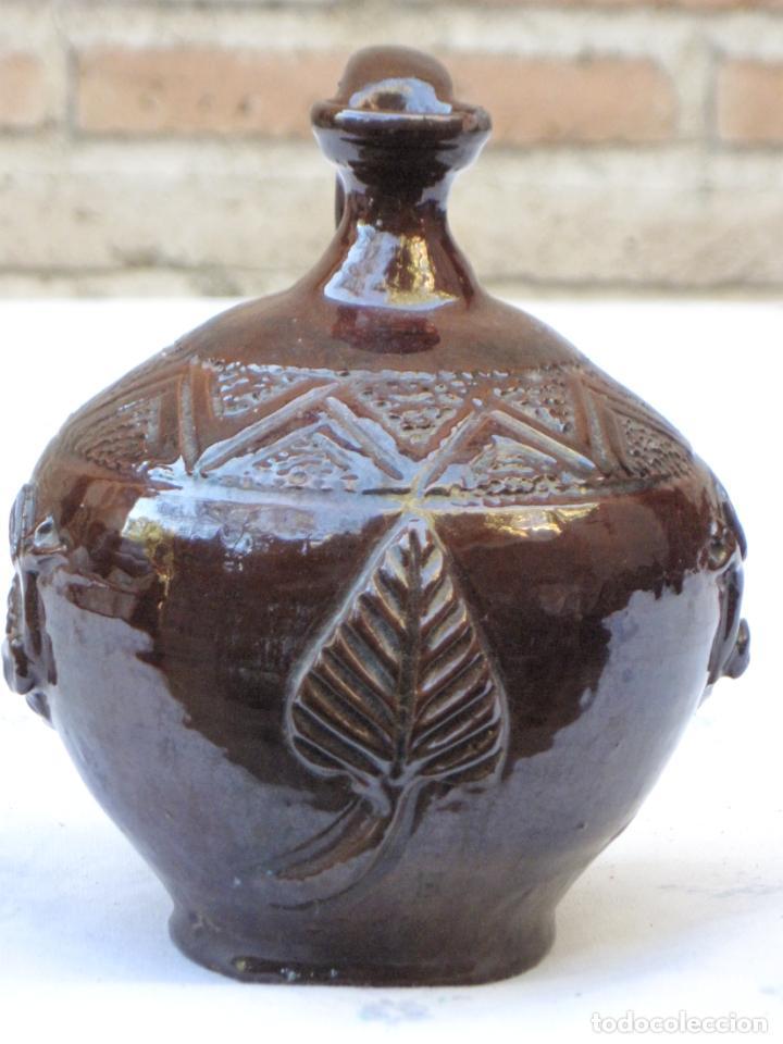 Antigüedades: CANTARILLO 1 EN CERAMICA VIDRIADA - DECORACION EN RELIEVE - EXTINTO ALFAR DE CASATEJADA ( CACERES ) - Foto 2 - 135059142