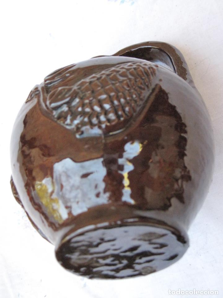 Antigüedades: CANTARILLO 1 EN CERAMICA VIDRIADA - DECORACION EN RELIEVE - EXTINTO ALFAR DE CASATEJADA ( CACERES ) - Foto 6 - 135059142