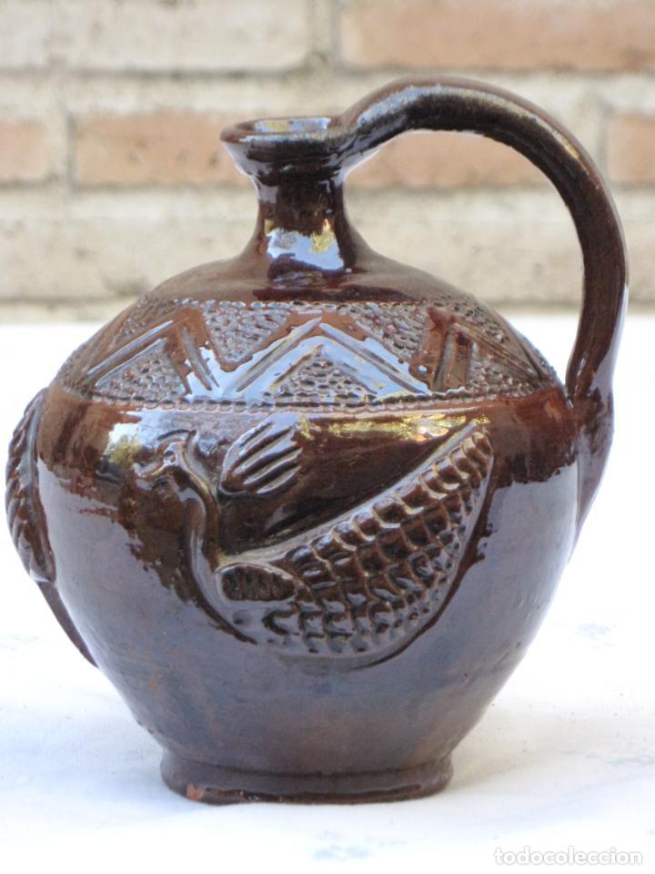 CANTARILLO-CANTARO - CERAMICA VIDRIADA-DECORACION EN RELIEVE-EXTINTO ALFAR DE CASATEJADA ( CACERES ) (Antigüedades - Porcelanas y Cerámicas - Otras)