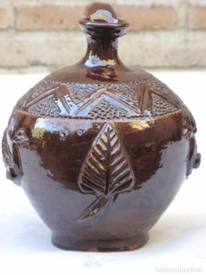 Antigüedades: CANTARILLO-CANTARO - CERAMICA VIDRIADA-DECORACION EN RELIEVE-EXTINTO ALFAR DE CASATEJADA ( CACERES ) - Foto 4 - 135059690
