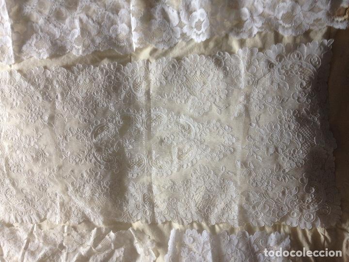 Antigüedades: LOTE PUNTILLAS Y ENCAJES - Foto 7 - 110187807