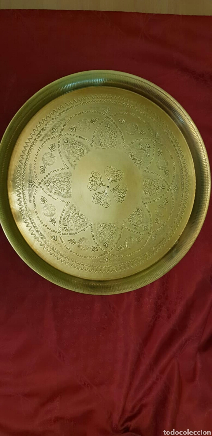 Antigüedades: Bandeja hindú - Foto 5 - 214373957