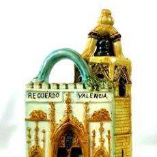Antigüedades: BOTIJO RECUERDO VALENCIA. PORCELANA ESMALTADA. VALENCIA. SIGLO XX.. Lote 135112010
