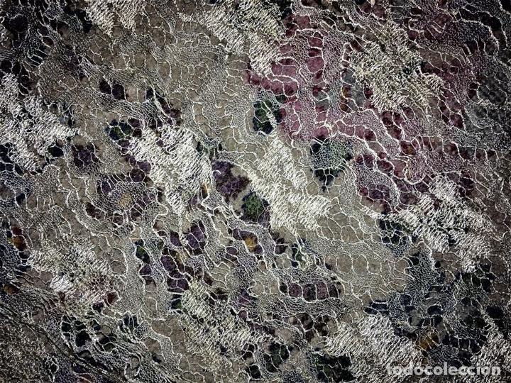 Antigüedades: GRAN MANTILLA SEMICIRCULAR. ENCAJE MECÁNICO. VISCOSA. ESPAÑA. SIGLO XIX-XX - Foto 16 - 135125594