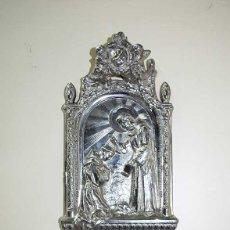 Antigüedades: ANTIGUA BENDITERA CON BAÑO DE PLATA. Lote 135126614