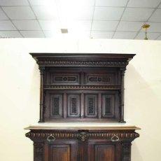 Antigüedades: ANTIGUO MUEBLE APARADOR, TRINCHERO TALLADO. SIGLO XIX. Lote 135126774