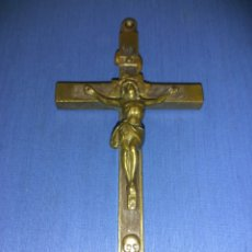 Antigüedades: CRUCIFIJO ANTIGUO FRAILERO. Lote 135137959