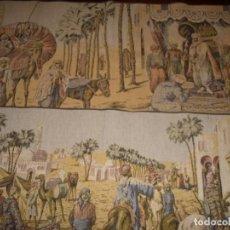 Antigüedades: DOS TAPICES ORIENTALISTAS, MAQUINA, 100X48 Y 93X48, MUY BUENA CONSERVAICON. Lote 135152122