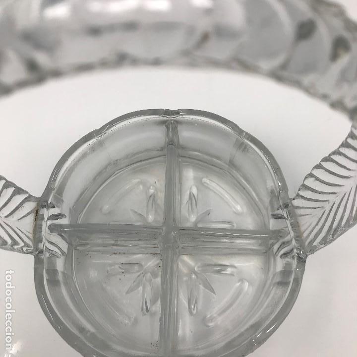 Antigüedades: CESTA CRISTAL PARA APERITIVOS-SIGLO XIX-SANTA LUCÍA - Foto 11 - 135153418