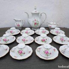 Antigüedades: JUEGO ANTIGUO DE CAFE EN PORCELANA DE BAVARIA SELLADO. Lote 135155558