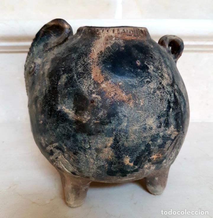 Antigüedades: MUY CURIOSO RECIPIENTE VIDRIADO ORIENTAL CON FORMA DE CONEJO,CHINA,S. XVIII - Foto 10 - 135155962