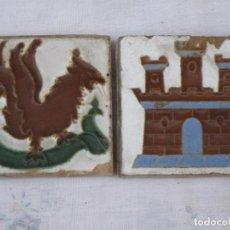 Antigüedades: LOTE DE DOS AZULEJOS ANTIGUOS DE SEVILLA / TRIANA - OLAMBRILLAS. PPOS.SIGLO XX.. Lote 135163218