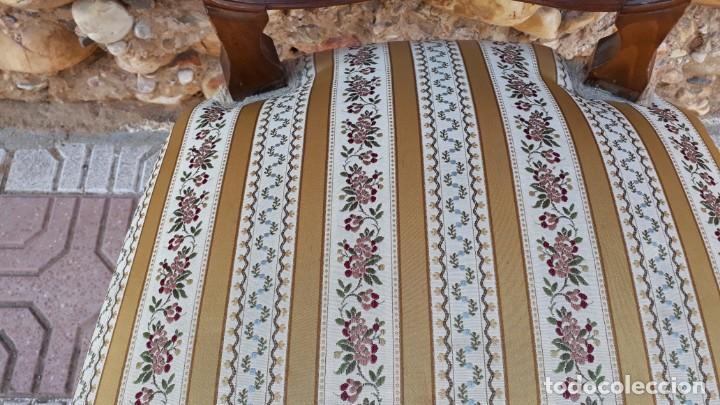 Antigüedades: 6 seis sillas antiguas de rejilla estilo Luis XV sillería antigua isabelino isabelinas vintage - Foto 8 - 135164290