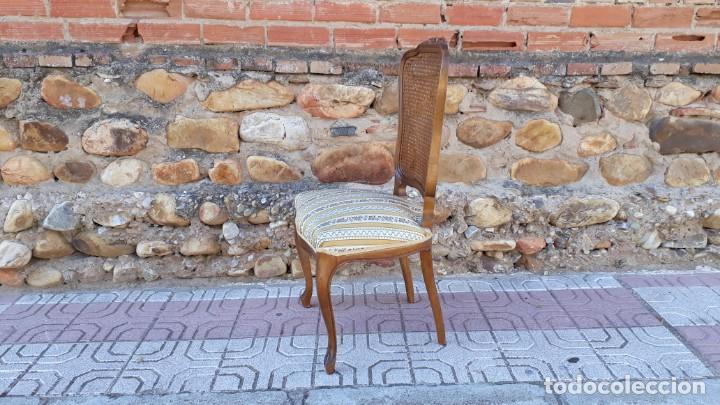 Antigüedades: 6 seis sillas antiguas de rejilla estilo Luis XV sillería antigua isabelino isabelinas vintage - Foto 10 - 135164290