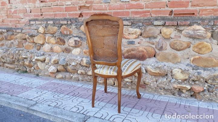 Antigüedades: 6 seis sillas antiguas de rejilla estilo Luis XV sillería antigua isabelino isabelinas vintage - Foto 11 - 135164290