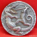 Antigüedades: ANTIGUA INSIGNIA DE SANT JORDI EN ALUMINIO. Lote 86746654