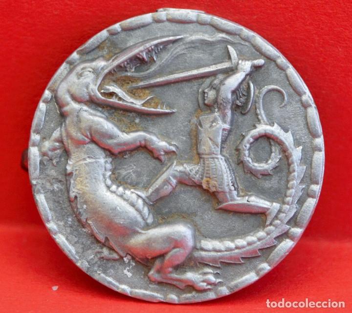Antigüedades: ANTIGUA INSIGNIA DE SANT JORDI EN ALUMINIO - Foto 2 - 86746654