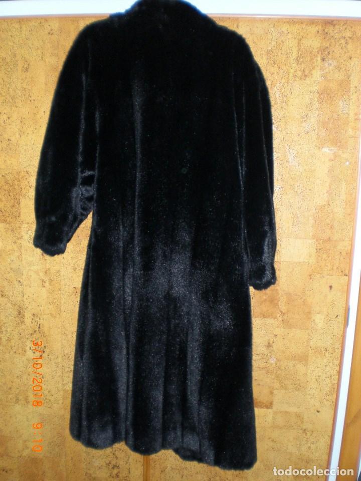 Antigüedades: ABRIGO DE VISÓN ECOLÓGICO MICHEL ALEXIS TALLA 46/48 COMO NUEVO - Foto 9 - 135185170