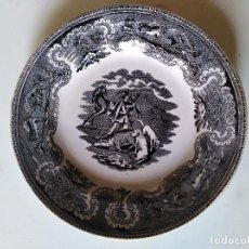 Antigüedades: FÁBRICA DE CARTAGENA , PLATO SIGLO XIX , 21 CMS. Lote 135189786
