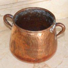 Antigüedades: PRECIOSA OLLA DE COBRE MALLORQUINA SIGLO XVIII-XIX. Lote 135190186