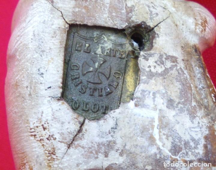 Antigüedades: Crucifijo de olot policromado. - Foto 3 - 135194434